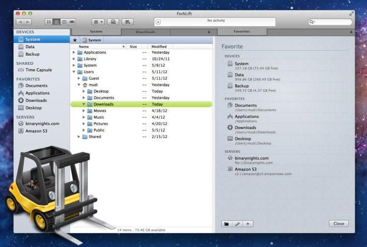 Mac用ファイルマネージャ兼FTPクライアント「ForkLift」が無料セール中