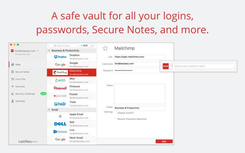 パスワード管理「LastPass」、MacBook ProのTouch BarとTouch IDに対応