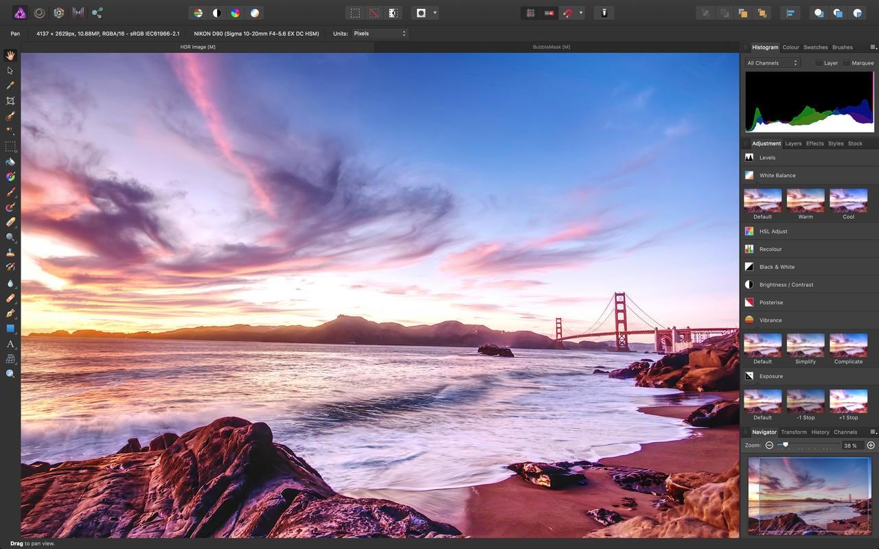 Mac用の画像編集アプリ「Affinity Photo」がセール価格で配信中!