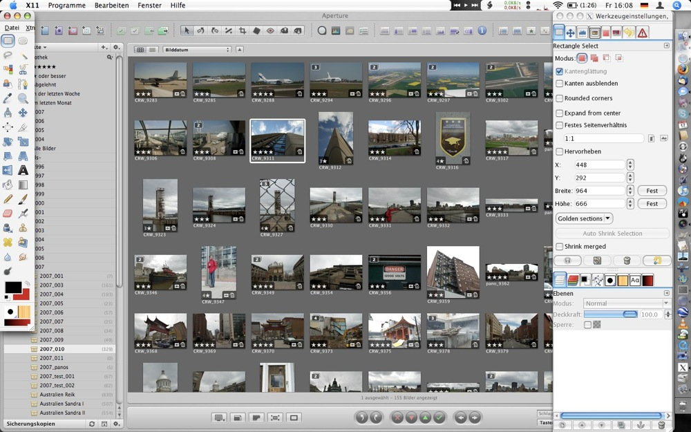 GIMP osx aperture