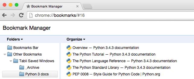 ChromeTab Tabli Bookmarks 03
